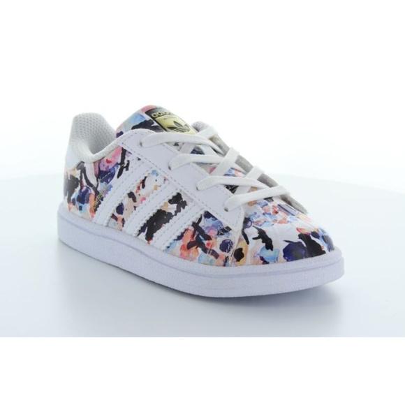 dcf1890c adidas Shoes | Toddler Girls Floral Superstar | Poshmark
